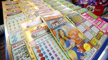 Lottery scratch-and-win tickets are sold at a convenience store in Whitby, Ont. (YVONNE BERG FOR THE GLOBE AND MAIL)