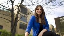 Lisa Bifano is graduating from McMaster University in Hamilton with a degree in English and Communications. (PETER POWER/The Globe and Mail)