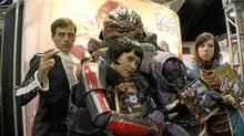 A scene from Comic-con: