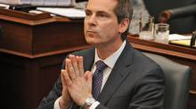 Ontario Premier Dalton McGuinty pauses during debate in Legislature at Queen's Park, Toronto, on Feb. 22, 2011. (Kevin Van Paassen/Kevin Van Paassen/The Globe and Mail)