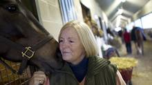 Sue Leslie is the owner and head trainer of Sue Leslie Stables at Woodbine Racetrack in Toronto. (Peter Power/The Globe and Mail/Peter Power/The Globe and Mail)