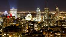 The Montreal skyline view at night. (Brent Lewin/Bloomberg)