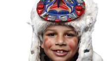 Matthew Everson, 9, a youth performer from Comox, B.C. (Chad Hipolito/THE GLOBE AND MAIL)