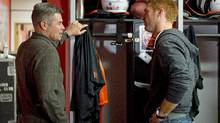 Lions offensive co-ordinator Jacques Chapdelaine and quarterback Travis Lulay (The Canadian Press)