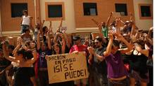 In dozens of cases, crowds of protesters in Spain have made it impossible for officials to deliver court orders for eviction. (Jon Nazca/Reuters/Jon Nazca/Reuters)