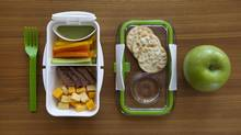 The 'Classic,' featuring sliced beef, cheese, vegetables and dip, with added crackers and an apple. (Deborah Baic/The Globe and Mail)