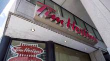 A Tim Hortons coffee shop is shown in Toronto on Wednesday, June 29, 2016. (Eduardo Lima/THE CANADIAN PRESS)