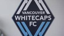 The Vancouver Whitecaps logo seen at the club's new National Soccer Development Centre facility. (Darryl Dyck/The Canadian Press)