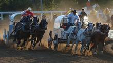 Chuckwagon drivers at the 2009 Calgary Stampede.