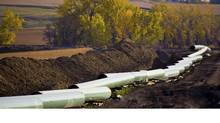The unfinished Keystone oil pipeline stretches through the North Dakota countryside. (Reuters/TransCanada Corp.)