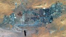 The town of In Amenas, Algeria, is seen in this satellite image. The Algerian army carried out a dramatic final assault to end a siege by Islamic militants at the desert gas plant of Tiguentourine, 50 kilometres from In Amenas. (HANDOUT/Reuters)