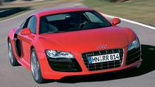 The new Audi R8 5.2 V-10: It makes 105 more horsepower than its 4.2-litre V-8 predecessor and tops out at 316 km/h. The styling isn't bad either. (Abdruck fuer Pressezwecke honora)