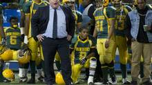 Mayor Rob Ford coaches the Don Bosco Eagles during the Metro Bowl at Rogers Centre in Toronto, Nov. 27, 2012. (Kevin Van Paassen/The Globe and Mail)