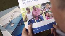 A review of 120 defined benefit pension plans by pension services firm RBC Investor & Treasury Services shows the average plan earned returns of 6.1 per cent in the final quarter of 2013 and 14.2 per cent for the full year, due largely to large equity returns from soaring global stock markets. Pension plans earned an average of 9.4 per cent on investments a year earlier in 2012. (Ryan Remiorz/The Canadian Press)