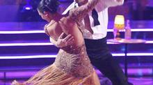 "It was Latin Night on ""Dancing with the Stars"" and the remaining nine couples heated up the floor dancing either the Salsa, Argentine Tango or the Samba. (Adam Taylor/ABC)"