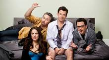The cast of the new Canadian sitcom Package Deal.
