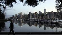 A man takes a stroll in Stanley Park. The $5.4-million greenway will ultimately connect False Creek with Stanley Park.