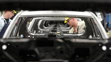 File photo of workers at the Toyota plant in Cambridge, Ont. (Kevin Van Passen/The Globe and Mail)