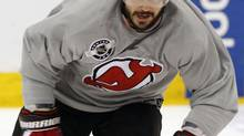 New Jersey Devils player Ilya Kovalchuk skates during a team practice before Game 1 of the NHL Stanley Cup hockey final between the Devils and the Los Angeles Kings in Newark, New Jersey, May 29, 2012. (MIKE SEGAR/REUTERS)