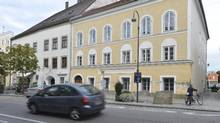 This Sept. 27, 2012 file picture shows an exterior view of Adolf Hitler's birth house, front, in Braunau am Inn, Austria. (Kerstin Joensson/AP)