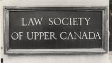 Sign for Law Society of Upper Canada. (Barrie Davis/The Globe and Mail)