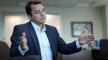 Shawn Atleo, national chief of theAssembly of First Nations, gives an interview at his Ottawa office on June 19, 2013. (DAVE CHAN FOR THE GLOBE AND MAIL)