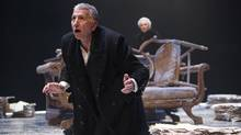 Scott Wentworth as John Gabriel Borkman (background: Seana McKenna as Miss Ella Rentheim) in John Gabriel Borkman. (David Hou)