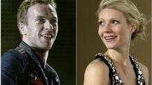 "A combination photo of singer Chris Martin of Coldplay performing during a concert as part of their ""Viva La Vida"" tour in Barcelona September 4, 2009 and actress Gwyneth Paltrow posing during the premiere of her film ""Iron Man"" in Berlin April 22, 2008. Actress Paltrow and husband Martin, the lead singer of alt-rock band Coldplay, said on March 25, 2014 they are separating after 10 years of marriage. (STAFF/Reuters)"