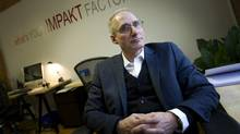 Paul Klein, founder of Impakt, a consulting firm that works with companies on areas of social responsibility, is photographed in his office in Toronto, Ont. Feb. 7, 2013. (Kevin Van Paassen/The Globe and Mail)