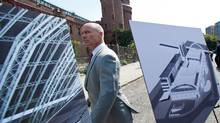 At the Kingsbridge Armory in the Bronx hockey legend Mark Messier was on hand to show support for Kingsbridge Armory Ice Rink Plan in the Bronx, New York August 23, 2012. (Uli Seit)