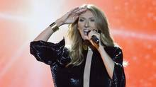 Celine Dion performs on the Plains of Abraham in Quebec City on Saturday, July 27, 2013. (Clément Allard/THE CANADIAN PRESS)