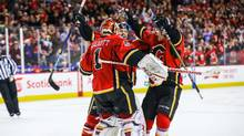 The Calgary Flames defeated the Pittsburgh Penguins 3-2 to extend their winning streak to 10 games, matching a club record set in 1978, when the team was based in Atlanta. (Sergei Belski/USA Today Sports)