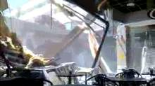 Still image from amateur video inside the collapsed Elliot Lake mall, June 23, 2012.