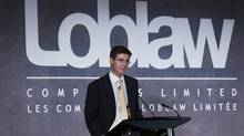 Executive Chairman Galen Weston, of Loblaw Companies Ltd., speaks at the company's annual general meeting in Toronto. (NATHAN DENETTE/Nathan Denette/The Canadian Press)