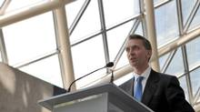 Brookfield Asset Management Inc. Chief Executive Officer Bruce Flatt speaks at their annual general meeting for shareholders in Toronto, May 5, 2010. (MARK BLINCH/REUTERS)