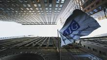 American International Group's offices are shown Tuesday, Oct. 7, 2008 in New York. (Mark Lennihan/AP)