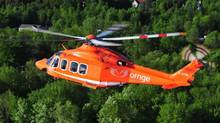 An Ornge helicopter of Ontario's air ambulance service is shown in a handout photo (THE CANADIAN PRES)