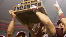 The Vanier Cup is seen in Vancouver, B.C., on Friday November 25, 2011. (DARRYL DYCK/THE CANADIAN PRESS)