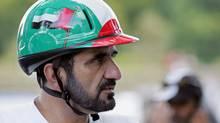 Dubai Crown Prince Sheik Mohammed bin Rashid al Maktoum competes with Jazik during the Open European Endurance Championship, 26 August 2005 in Compiegne. (Damien Meyer/AFP/Getty Images/Damien Meyer/AFP/Getty Images)