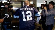 Toronto Mayor Rob Ford leaves his office at City Hall on Nov. 14, 2013. (DEBORAH BAIC/THE GLOBE AND MAIL)