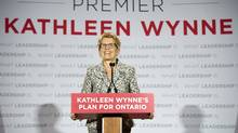 Ontario Liberal leader Kathleen Wynne releases the party platform in Thunder Bay, Ontario on Sunday May 25, 2014. THE CANADIAN PRESS/Frank Gunn (Frank Gunn/THE CANADIAN PRESS)