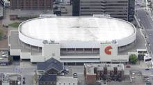 Copps Coliseum as seen in this May 21, 2008 aerial picture, in Hamilton, Ont. (Kaz Novak/The Canadian Press)