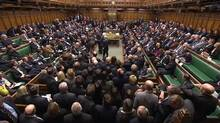 A video grab image shows MPs voting on gay marriage legislation, in the House of Commons, London February 5, 2013. British lawmakers on Tuesday backed legalizing gay marriage in the first of several votes on the issue after a debate which split Prime Minister David Cameron's ruling Conservative party in two. (Reuters TV/Reuters)