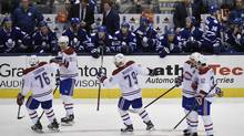 At the NHL all-star break, the Montreal Canadiens are 11th in the 16-team Eastern Conference, with the Toronto Maple Leafs sitting 15th. (Fred Lum/The Globe and Mail)