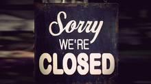 closed shop sign (PinkBadger)