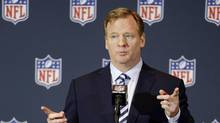 FILE - In this March 25, 2014, file photo, NFL commissioner Roger Goodell answers questions during a news conference at the NFL football annual meeting in Orlando, Fla. (John Raoux/AP)