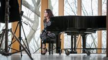 Singer-songwriter Chantal Kreviazuk during the filming of a music video Sunday, Dec 6, 2015 in the double-storey concert hall at Integral House, 194 Roxborough Dr. (Chris Vassalos/Sotheby's International Realty Canada)