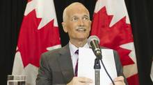 New Democratic Party (NDP) leader Jack Layton speaks at a news conference in Toronto, July 25, 2011. (REUTERS/Mark Blinch/REUTERS/Mark Blinch)