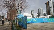 Potential site for the new home of the Vancouver Art Gallery at the corner of Cambie and West Georgia streets in Vancouver. The gallery rejected the province's very public offering of a property in the False Creek. (Simon Hayter for The Globe and Mail)