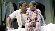 """Charles Officer and Kofi Payton in Soulpepper's """"A Raisin in the Sun"""". (Trudie Lee)"""